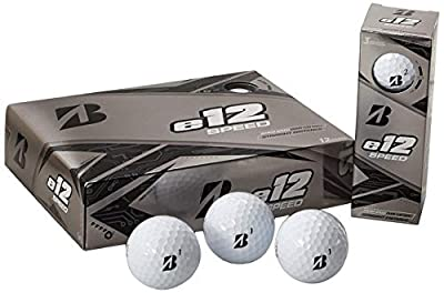 Bridgestone Golf e12 Speed Golf Balls, White (One Dozen) (Renewed)