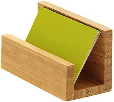 Haudang Bambus Holz Desktop Visitenkartenhalter für Schreibtisch Robuste Visitenkarte Display Stand für BüRo Geeignet für M?Nner Frauen