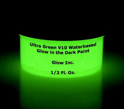 Ultra Green V10 Glow in the Dark Paint 1/2 Fluid Ounce