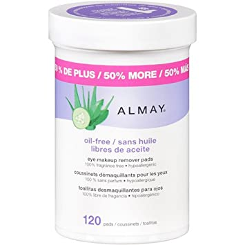 Almay Eye Makeup Remover Pads Oil Free, 120 Count