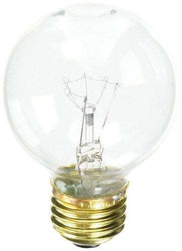Bulbrite 25G19CL 25W G19 Globe 125V Medium Base Light Bulb, ()