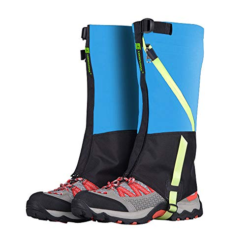 ayamaya Hiking Gaiters Waterproof Kids' Snow Leg Gaitors, Breathable High Boots Children Shoe Cover for Snake Ski Gaiters for Outdoor Sports Walking Hunting Climbing Mountain Snowboarding (Blue)