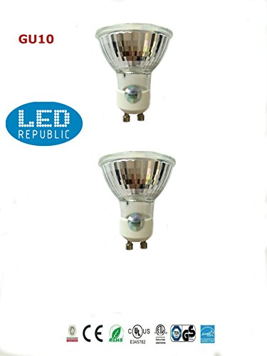 2-PACK LED Republic UL LED 5-Watt Dimmable GU10 High Power 50W Equivalent, Soft White Light MR16 Bulbs,3000K Warm Light. UL Listed, Energy star certified (50w Mr16 Bulb)