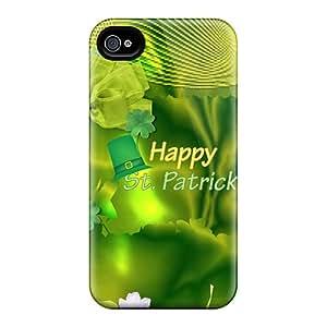 Iphone 4/4s Case Cover Skin : Premium High Quality Irish Green Floral Case