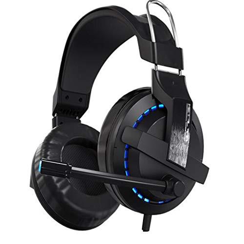 DYW Audífonos Juego de Auriculares con Cable Juego de Auriculares con micrófono Luz de Voz Juego de Auriculares con diseño...