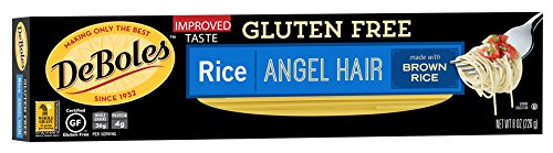 Deboles Gluten Free Rice (DeBoles Gluten-Free Rice Pasta, Angel Hair, 8 Ounce (Pack of 12) (Packaging may Vary))