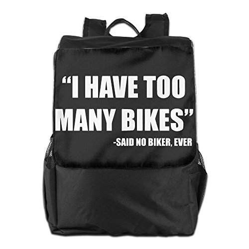 Kona Hybrid Bike (ZHONGRANINC I Have Too Many Bicycles Personality Outdoor Men And Women Travel Backpack Painting The Picture On The Backpack)