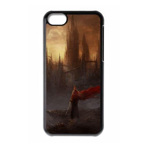 S7Z66 Shadowgate cas de téléphone C6C9QB coque iPhone 5c cellulaire couvercle coque noire II1XCB8DO