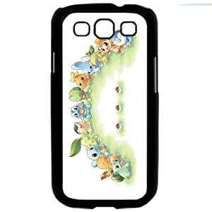 Pokemon Popular Cute Pikachu Charmander Torchic Bulbasaur Cyndaquil Chimchar Tepig Samsung Galaxy S3 SIII i9300 TPU Soft Black or White Cases (Black)