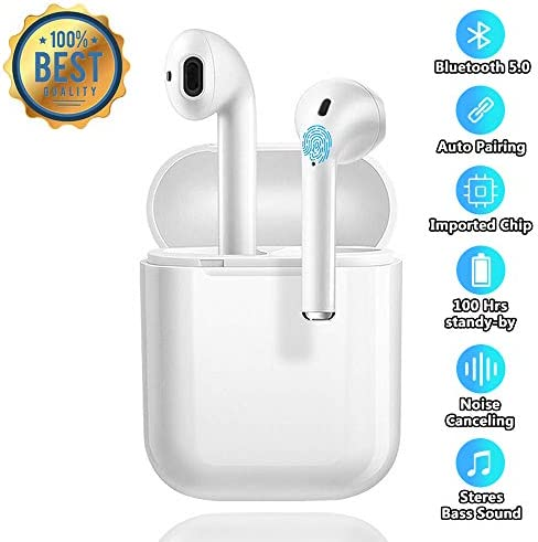 Bluetooth Headsets Wireless Earbuds Intelligent Noise Reduction Touch Headphones Mini Charging Box 3D Stereo Headphones in-Ear Built-in HD Microphone for iPhone Apple Airpod Android Headsets