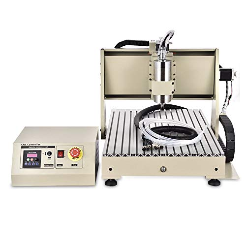 3 Axis Engraver CNC Router Kit USB 1.5KW VFD 3 Axis 6040 CNC Router Engraver Engraving Drilling Milling Carving Machine 3D Cutter Printer Desktop DIY Artwork Woodworking W/Remote Controller