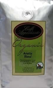 Caffe Appassionato Organic Arietta Blend Coffee, Whole Bean, 2 lb Package