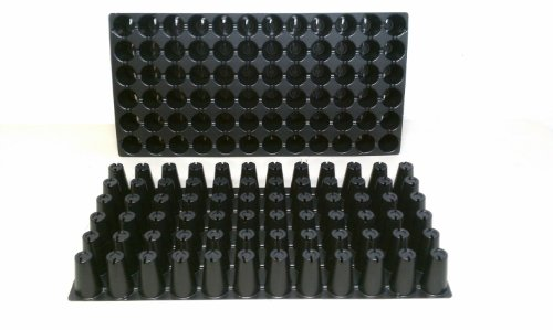 9GreenBox - 10 Plastic Seed Starting Trays - Each Tray Has 72 Cells ~ Cells Are 1.44 '' Round X 2.38 '' Deep. Great Propagation Trays by 9GreenBox.com