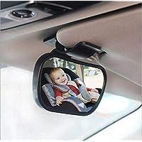Lolo Espejo Para Bebé Auto Asiento Trasero Espejo Retrovisor de Carro, 2 INSTALACIONES Vista Posterior para Seguridad de Bebé Niño en Coche Ajustable