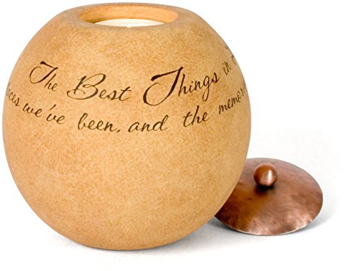 - Comfort Candles The Best Things in Life by Pavilion Includes Tea Light Candle, 4-1/2-Inch Round, Sentimental Saying