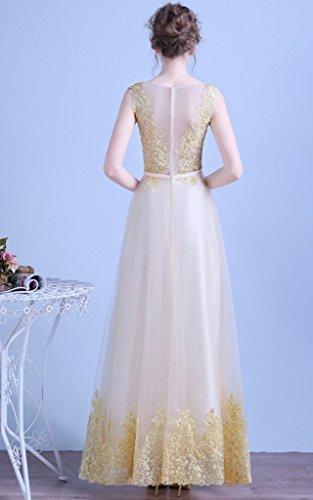 Para Vestido Trapecio Dorado Mujer Vimans nXBf1x