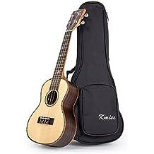 Kmise Concert Ukulele Uke Acoustic Hawaii Guitar 18 Fret 23 Inch Spruce Wood With Ukelele Bag