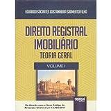 capa de Direito Registral Imobiliário. Teoria Geral - Volume 1