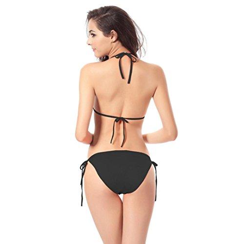 Trajes de baño para mujer,RETUROM Conjunto de bikini bandage de las mujeres Negro