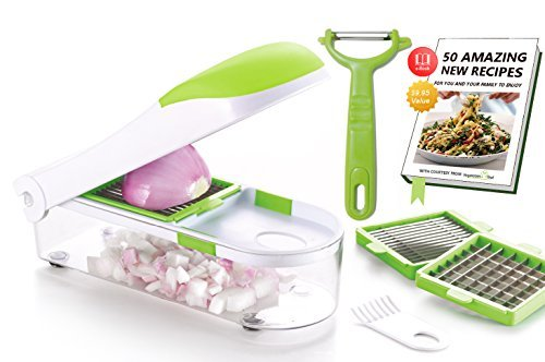 Vegetable's Chef - Onion, Vegetable, Fruit and Cheese Chopper - Dice, Slice and Chop for Salads,...