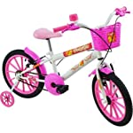 Bicicleta Infantil Aro 16 Polikids Branca Polimet Meninas Branco Outro (especifique na descrição do produto)