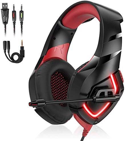 PS4 PC用マイク付きステレオゲーミングヘッドセット、ゲームを切り替えるための低音サラウンド付きプロフェッショナルゲーミングヘッドセット