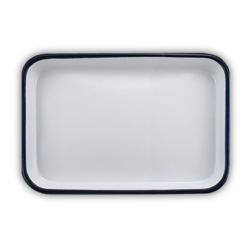 Enamel Butcher Tray 7x10.5 inches