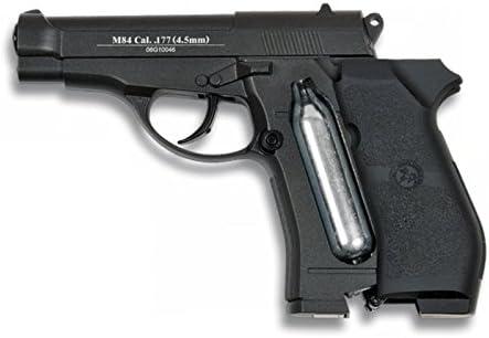 Pistola de balines metalicos. Accionamiento de Co2 (no incluido). Calibre 4.5 mm. Potencia de 1,26 julios