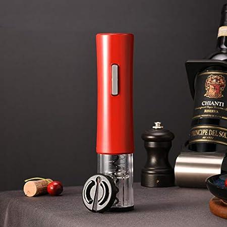 YOPOTIKA Sacacorchos Eléctrico con Batería Abrebotellas Automático con Cortador de Papel de Aluminio Suministros de Cocina para El Hogar