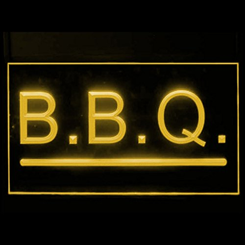 110086 BBQ Grills Bar Barbecue Burgers Port Beef Display LED Light Sign