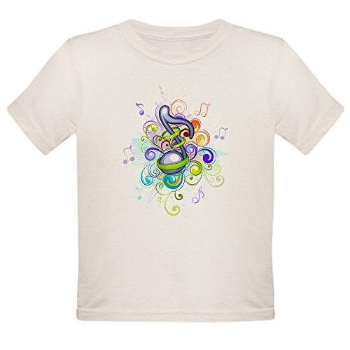 (Truly Teague Organic Toddler T-Shirt Music Note Colorful Burst - 4T)