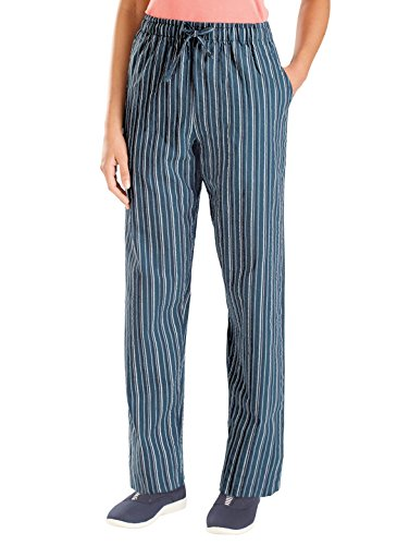 Carol Wright Gifts Striped Pant, Blue, Size Extra Large (Striped Pants Slacks)