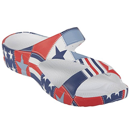 Dawgs Kids' Loudmouth Z Sandals Betsy Ross Size (Betsy Ross As A Child)