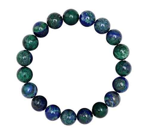 (Natural Lapis Chrysocolla Bracelet 7 inch Stretchy Gemstone Bracelet Chakra Gems Stones Healing Crystal Great Gifts (Unisex) GB8-21)