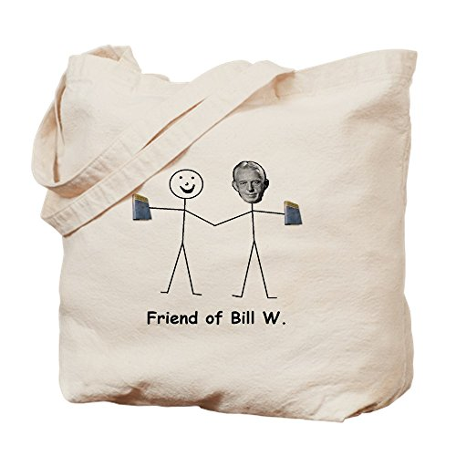 CafePress Friend Of Bill W. Natural Canvas Tote Bag, Reusable Shopping Bag