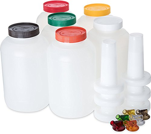 Carlisle PS801B00 Store N' Pour Complete Unit Assorted Colors, 1 Gallon Capacity, Assorted (Pack of 6) by Carlisle (Image #1)