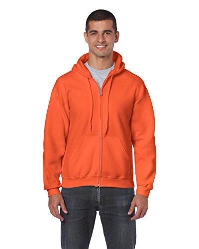 Gildan 18600 – Classic Fit Adult Full Zip Hooded Sweatshirt Heavy Blend – First Quality – Orange – 5X-Large