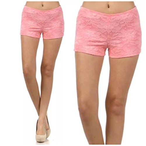 ce Floral Pink Stretch Summer Spring Fully Lined Fashion (Large, Pink) ()