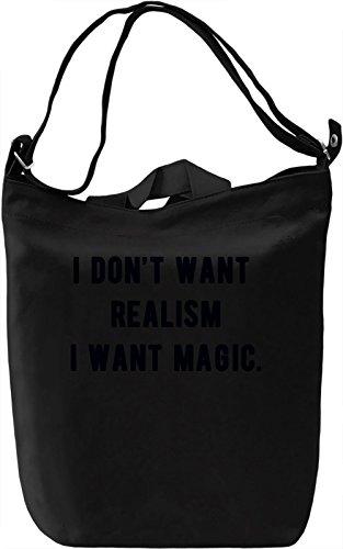 I want Magic Borsa Giornaliera Canvas Canvas Day Bag| 100% Premium Cotton Canvas| DTG Printing|
