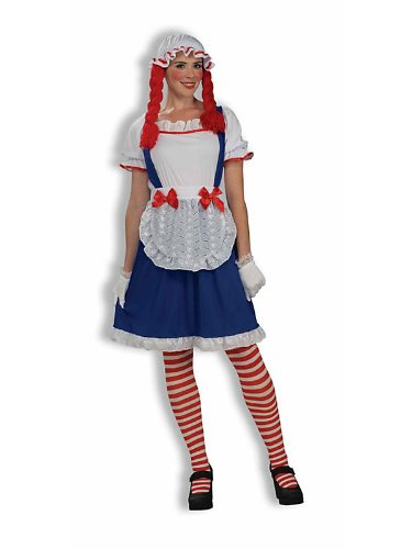 Rag Doll Costume (Rag Doll Girl with Cap Adult Halloween Costume Size Standard)