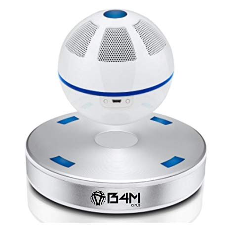 B4M ORB-Ice Silver Portable Wireless Bluetooth 4.1 Floating Sound Levitating Maglev Speaker (NFC)