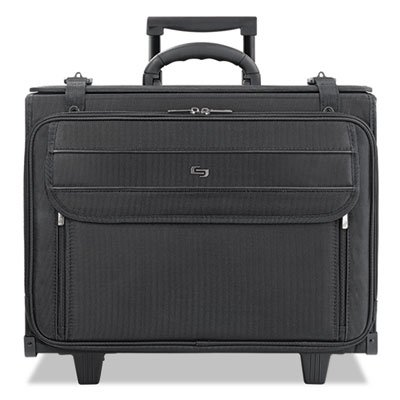 SOLO : Rolling Laptop/Catalog Case, Ballistic Poly, 18-3/4 x 9 x 15-1/2, Black -:- Sold as 2 Packs of - 1 - / - Total of 2 Each