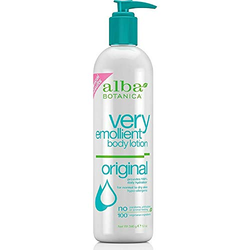 Botanica Moisturizing Lotion Very Body Lotion Alba Emollient (Body Lotion (Very Emollient)-Scented Alba Botanica 12 oz Lotion)