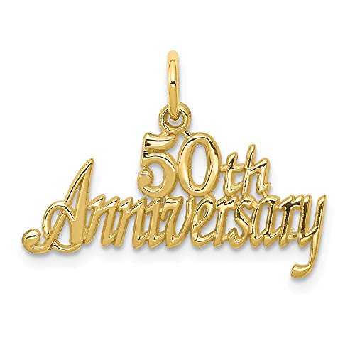 Gold 50th Anniversary Charm ()