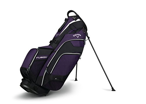 Callaway Golf 2018 Fusion Stand Bag, Purple/ Black/ Titanium