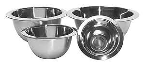 ZUCCOR 4 Piece Premium Steel Mixing Bowl Set