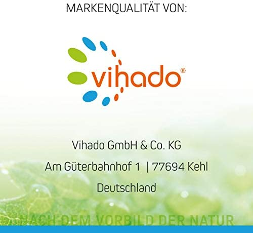 Vihado Colon DTX Premium Kapseln mit Flohsamen, Grüntee Extrakt, Leinsamen und Löwenzahn, 30 Kapseln