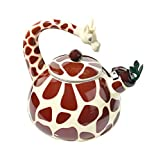 HOME-X Giraffe Whistling Tea Kettle, Animal Teapot, Kitchen Accessories and Décor