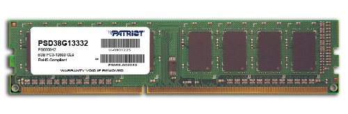 Patriot PSD38G13332 Signature 8GB CL9 PC3-10600 1333MHz DIMM 8 DDR3 1333 Computer Internal Memory (Mini Lamp Signature)