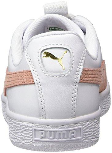 Maze peach Puma Wn's Ginnastica Beige Lea Donna Da Bianco Scarpe Basse puma White Basket f55wAqg